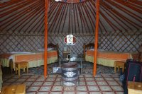 Yurt in the camp near Bayandsag