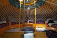 Yurt in the Taikhar Tourist Camp