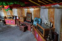 Exhibits at the Ongi monastery